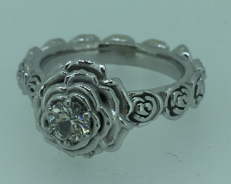 Sužadėtuvių žiedas rožė