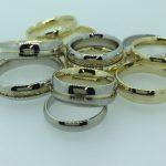 Vientiniai vestuviniai žiedai